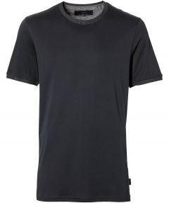 Ted Baker t-shirt - extra lang - donkerblauw