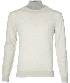 Gentiluomo pullover - slim fit - greige