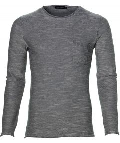 sale - Antony Morato pullover - slim fit - blauw
