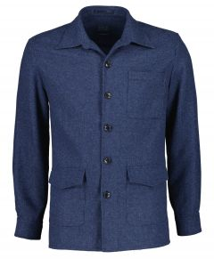 Nils overshirt - slim fit - blauw