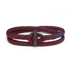 Pig & Hen armband - Tiny Ted  - bordeaux