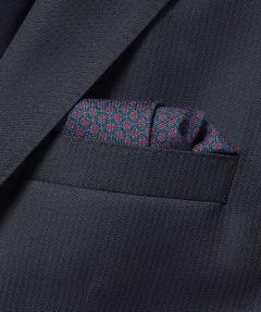 Hensen pochet - blauw - dessin